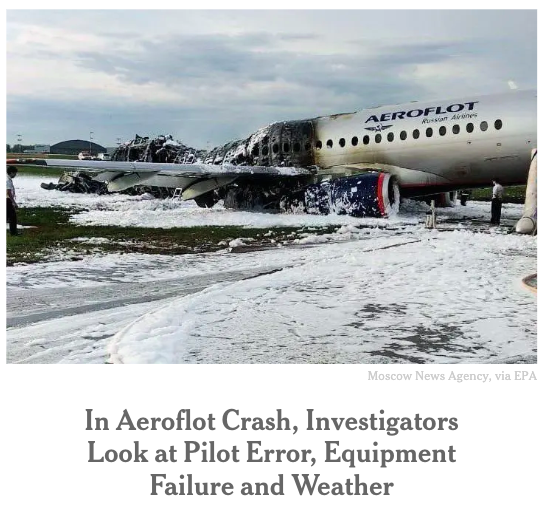 aeroflot crash